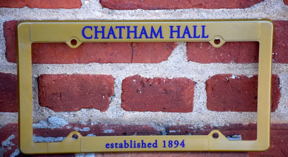 Image of Chatham Hall License Plate Surround