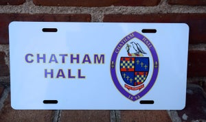 Image of Chatham Hall License Plate