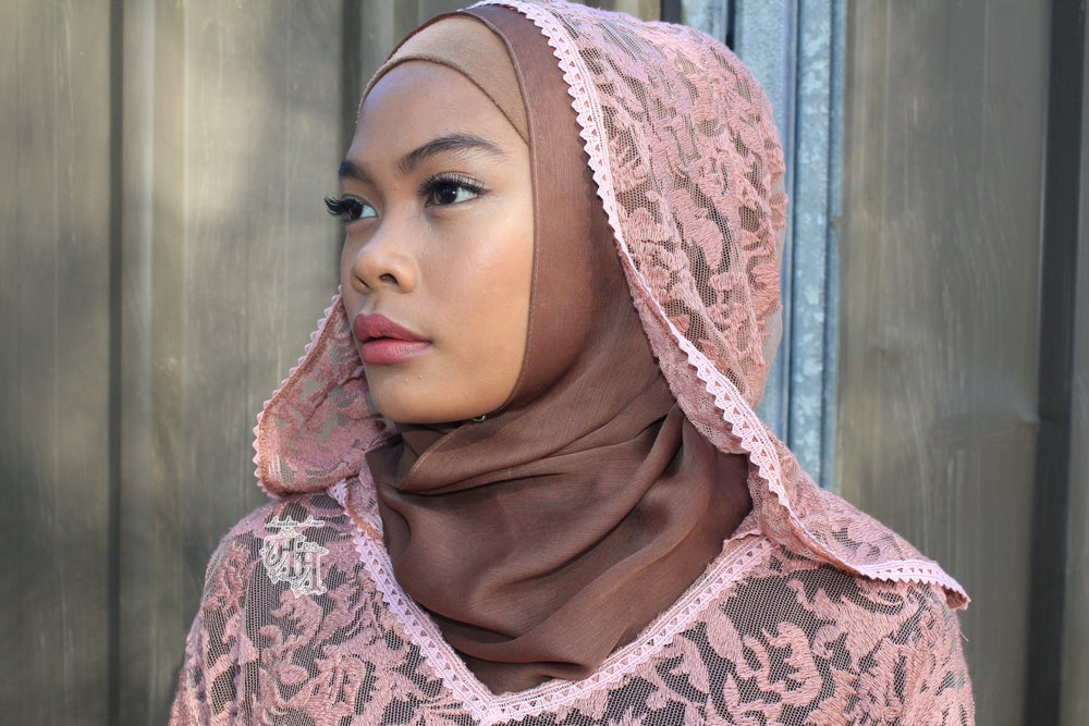 Image of Enchanting Lace Hoody Kaftan.