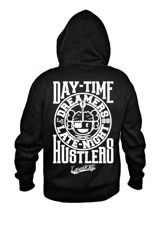 Image of LKNG Dreamers X Hustlers Zip Hoodie (Black)