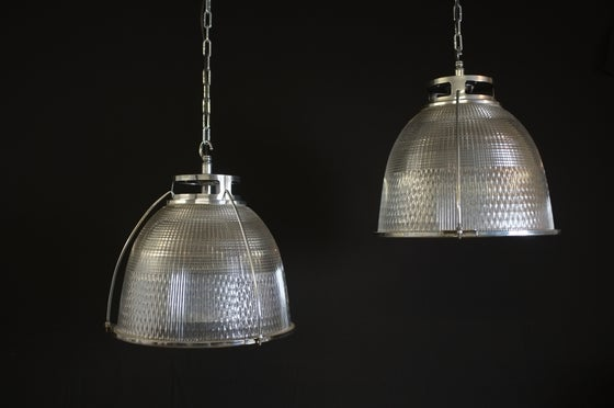 Image of Vintage Industrial Holophane Pendant Light #1