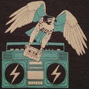 Image of Hawk & Boombox T-shirt | Unisex VNeck XXS-XS