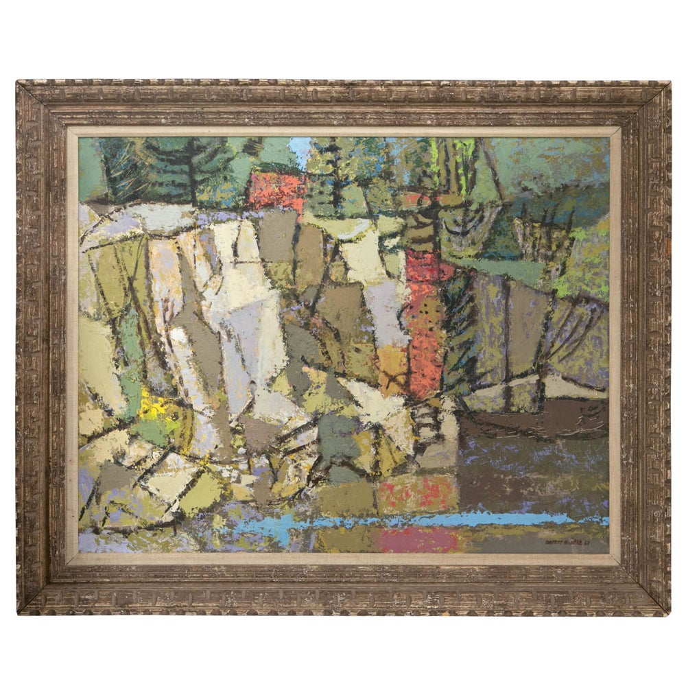 Image of Mid Century Oil Painting by listed artist Everett C. McNear, ca.1963