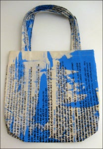 Image of MJL Blue Abstract Gibberish Cut n Sew Bag