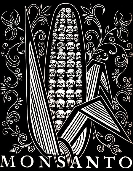 "Image of ""Monsanto"" Linocut Print"
