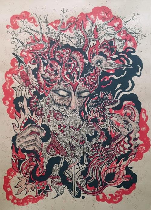 Art Print : VIEUX SAGE (2014) Screenprinted Poster