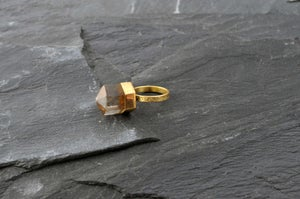 Image of Pencil on top ring smokey quartz