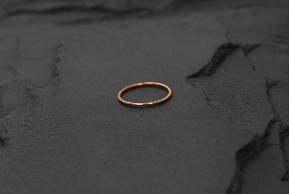 Image of Thin classic ring in copper