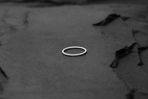 Image of Thin twisted ring in 925 silver