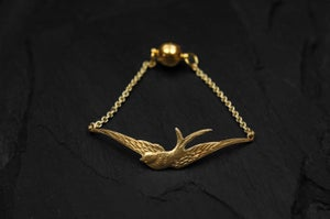 Image of Swallow bracelet in brass