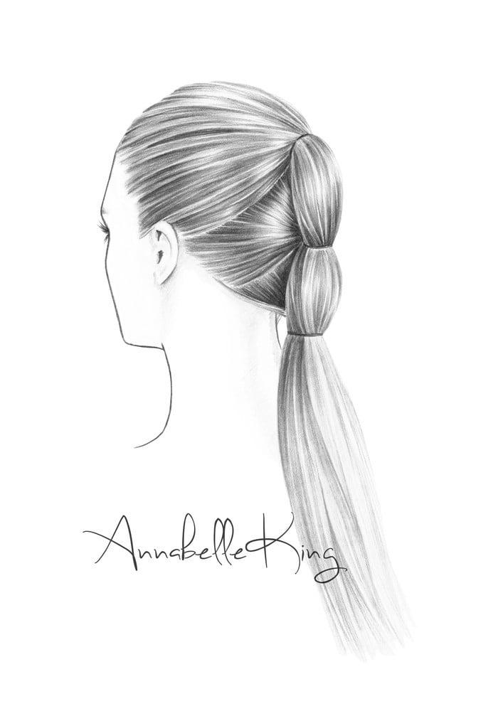 Image of Hair Illustration no.1 Original A5