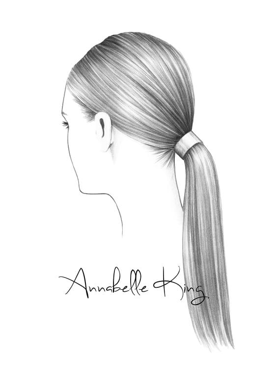 Image of Hair Illustration no.2 Original A5