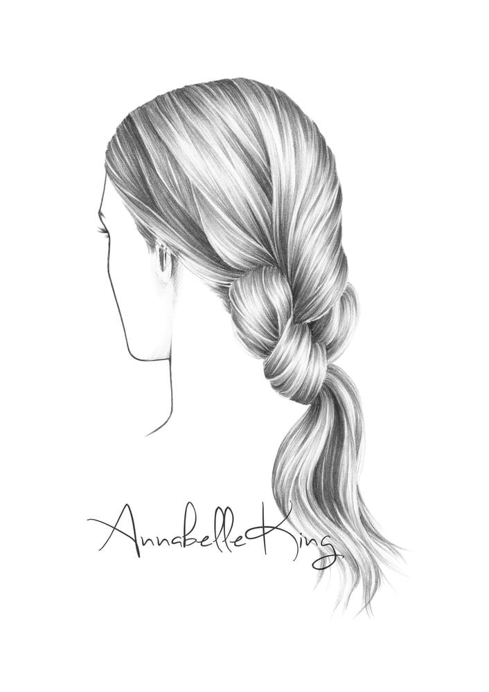 Image of Hair Illustration no.3 Original A5