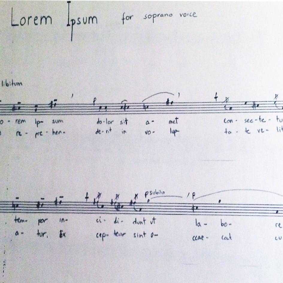 Image of LOREM IPSUM - SOPRANO VOICE (a cappella)