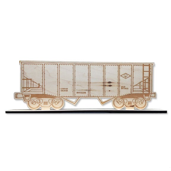 Image of WOODEN COVERED HOPPER FREIGHT TRAIN