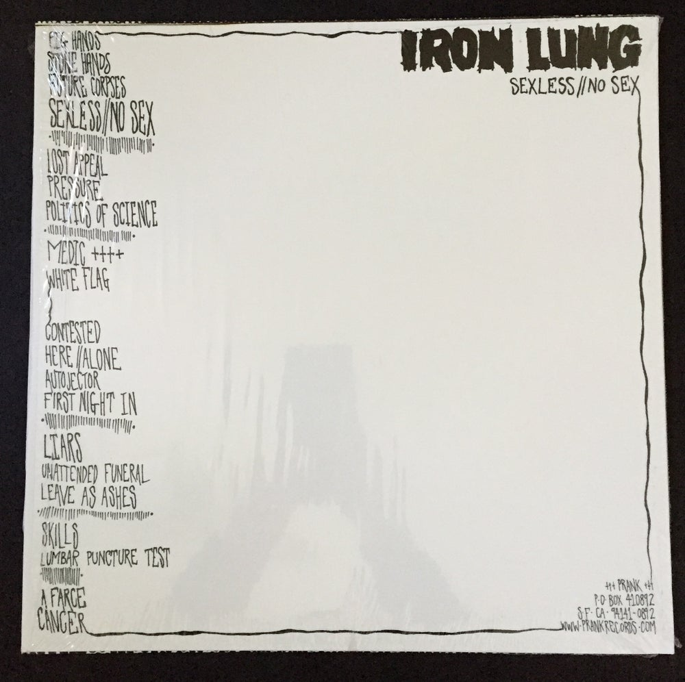 Image of IRON LUNG- Sexless//No Sex LP COLORED VINYL RE-PRESS