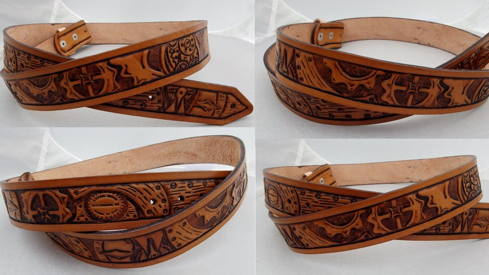 Image of Custom Hand Tooled Leather Belt