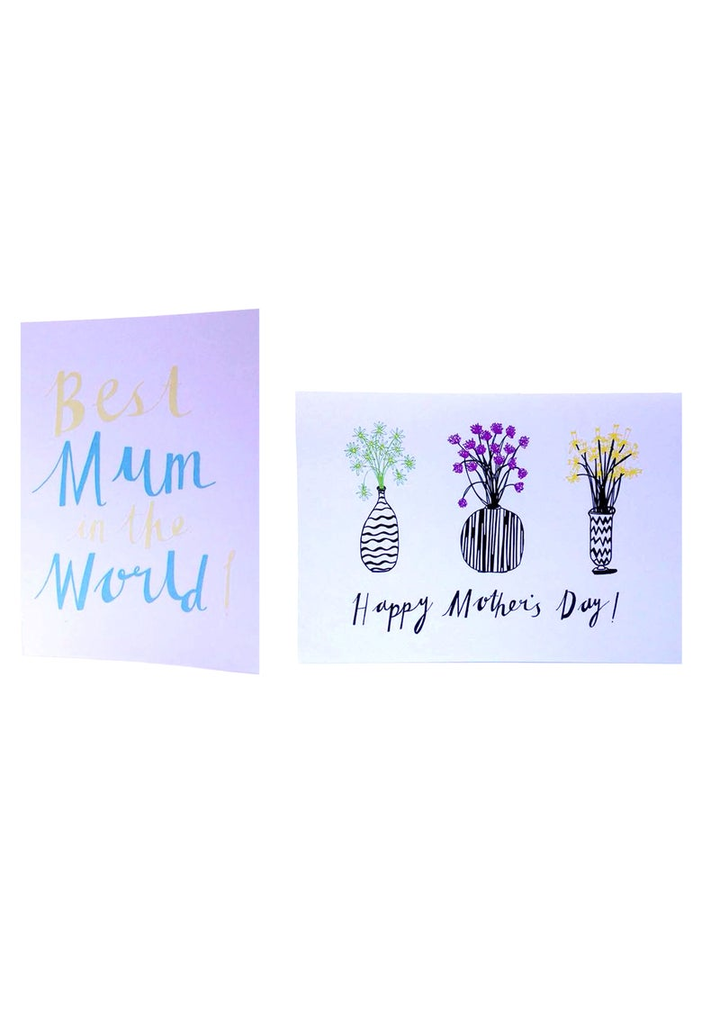"Image of ""Best Mum in the World!"" and ""Happy Mother's Day!"""