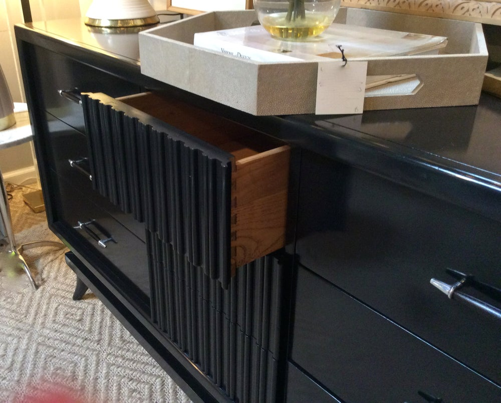 Image of Ebonized Dresser or Credenza by American of Martinsville
