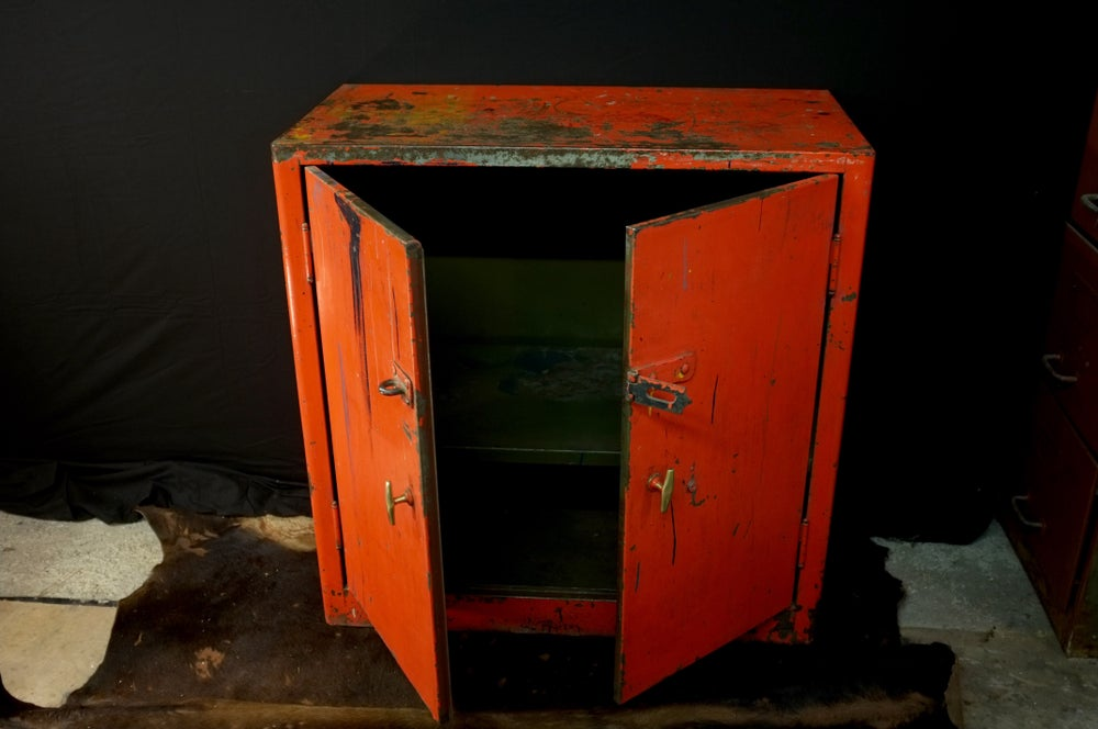 Image of Mid Century Steel Workshop Cabinet
