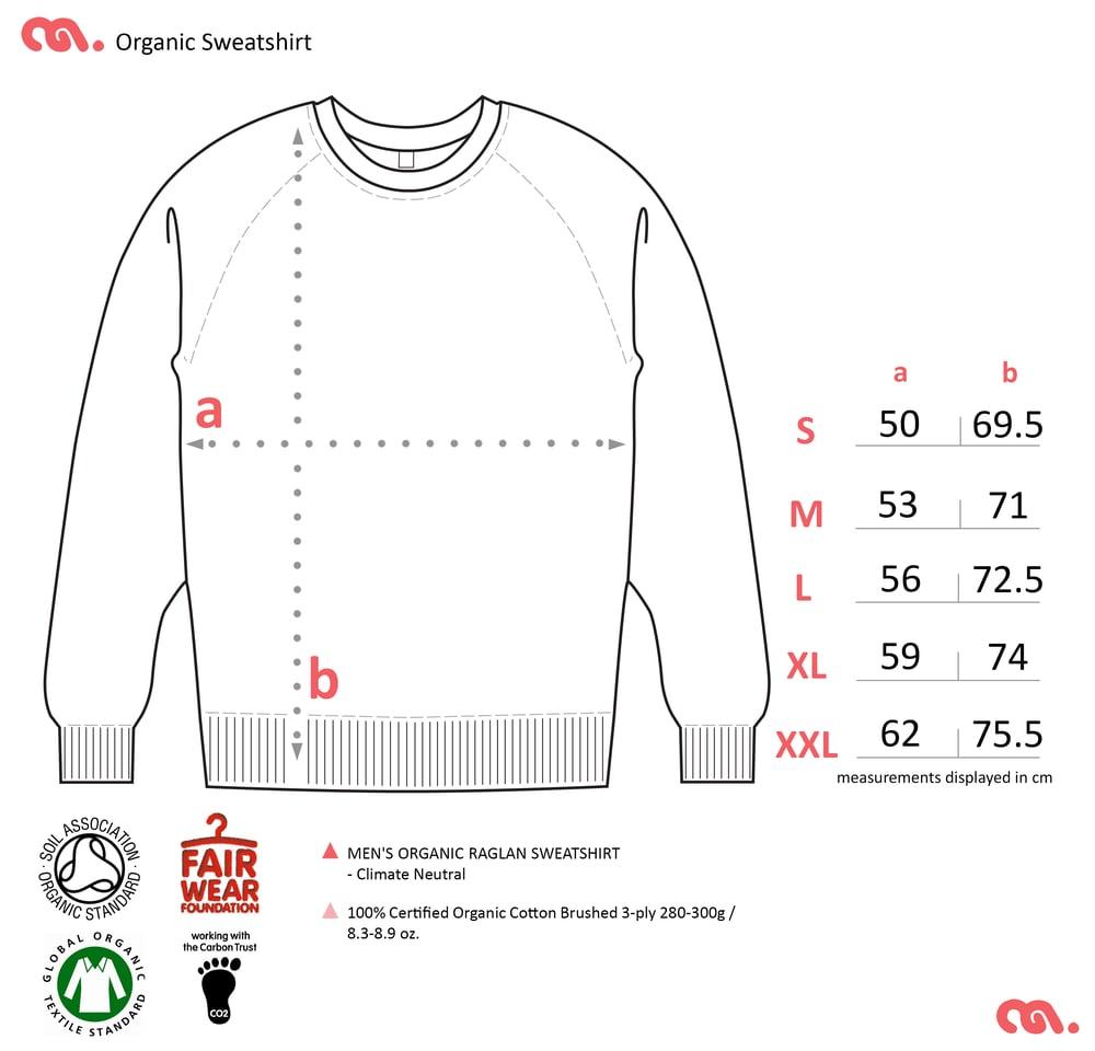 Axe Navy Unisex Sweatshirt (Organic)