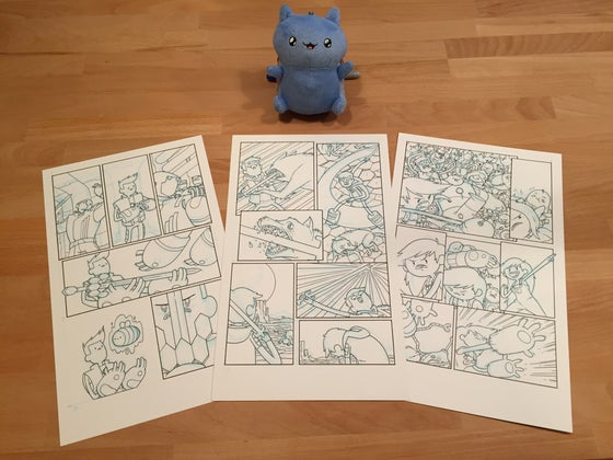 Image of Bravest Warriors original page - chosen by Mike!