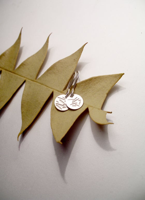 Image of DOT EARRING: POLLEN (STAINLESS STEEL)