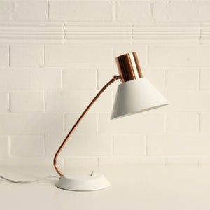Image of East German copper desk light