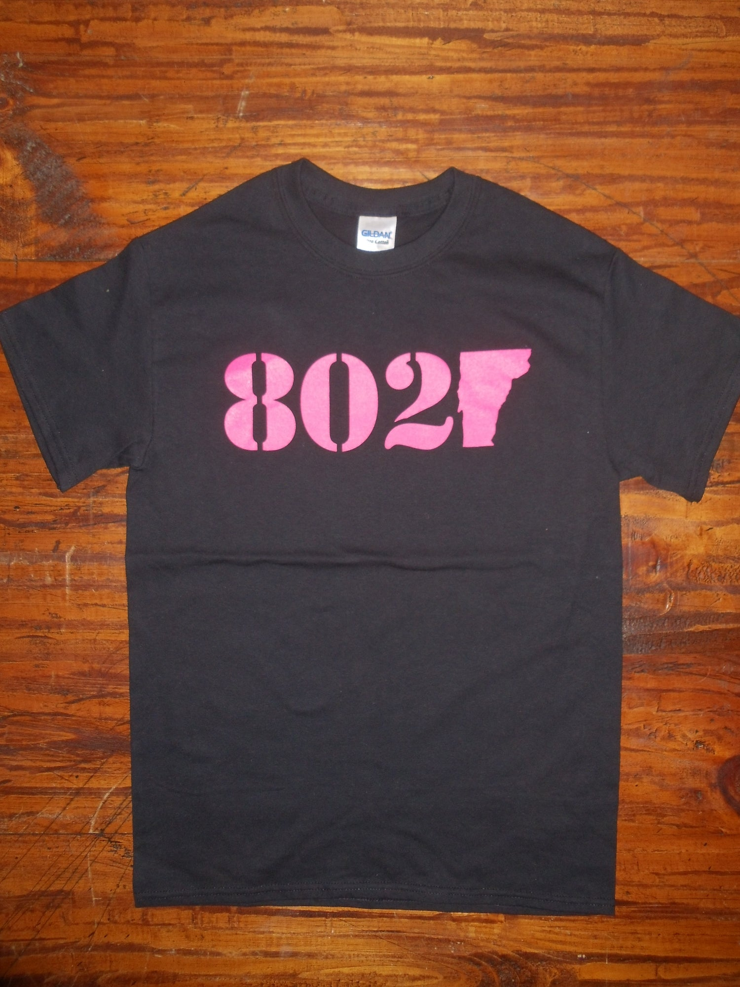 Image of 802 Classic T Shirt - Pink & Black