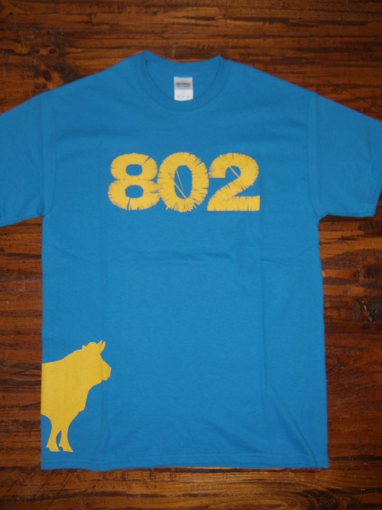 Image of 802 Cow Shirt - Vermont Shirt - Vermont Cow - Vermont Clothing - 802 clothing