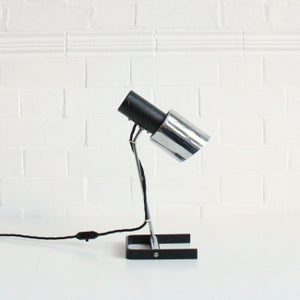 Image of Black  and chrome desk lamp c1960