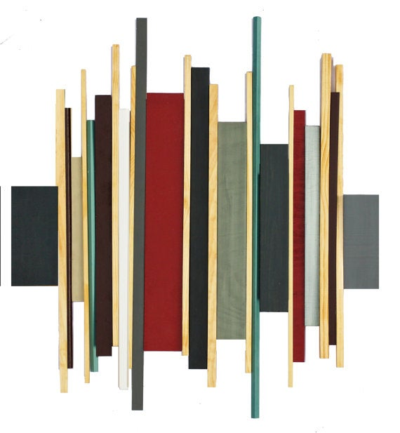 Image of 'SOUNDWAVE NO8' | Geometric Abstract Wall Sculpture | Installation Art | Large Wall Hanging