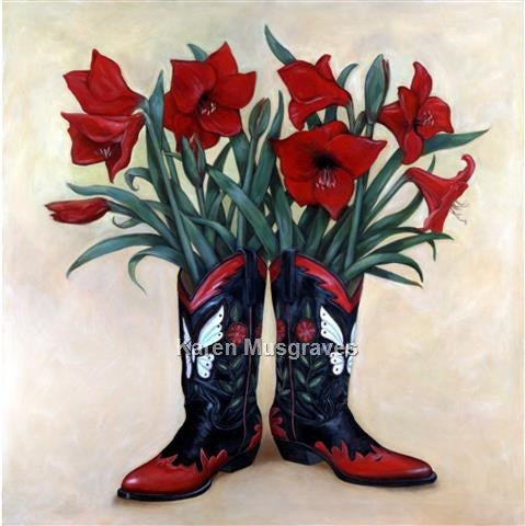 "Image of ""Amaryllis By Morning"" Canvas Gicleé"