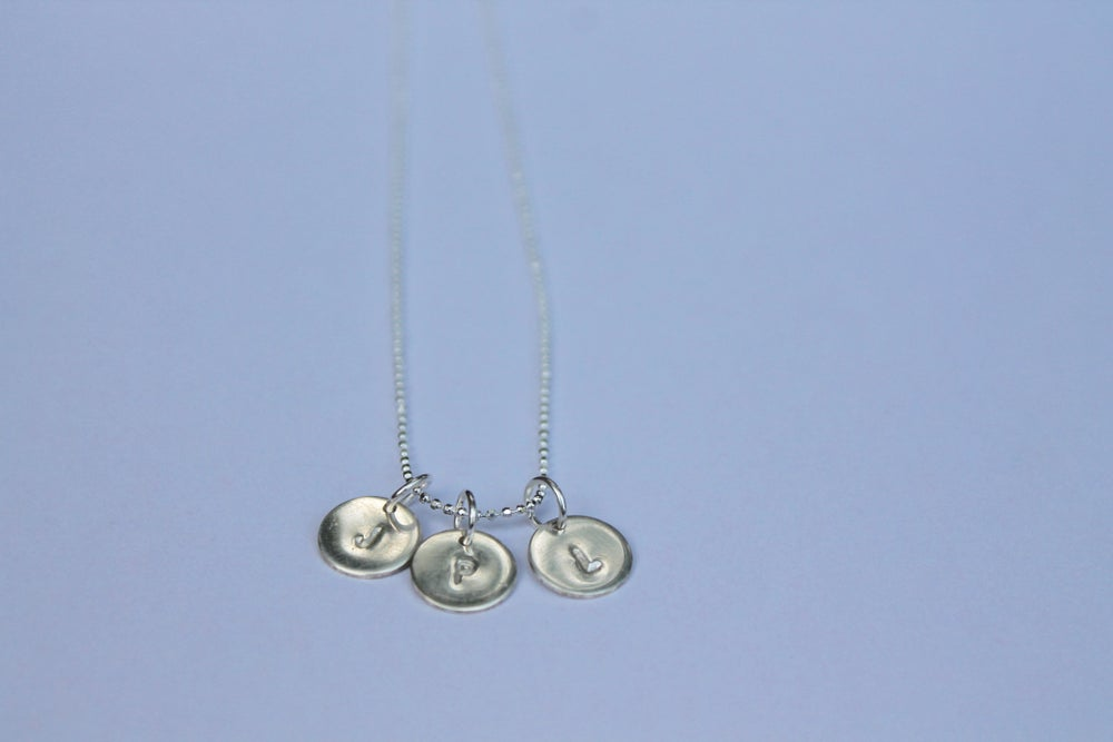 Image of Silver Personalised Pendant Necklace
