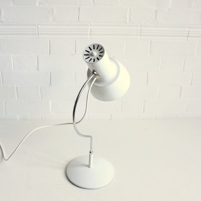 Image of Large Mid-century white desk light