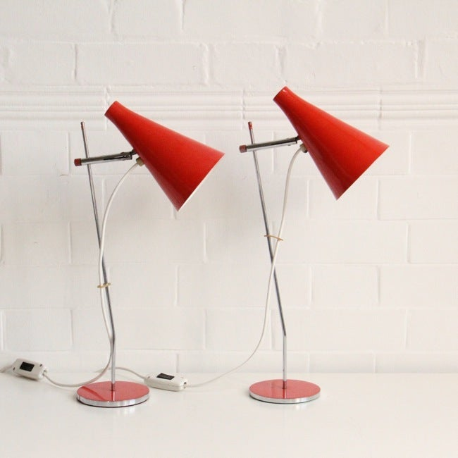 Image of A pair of Josef Hurka table lights, Czechoslovakia 1963.