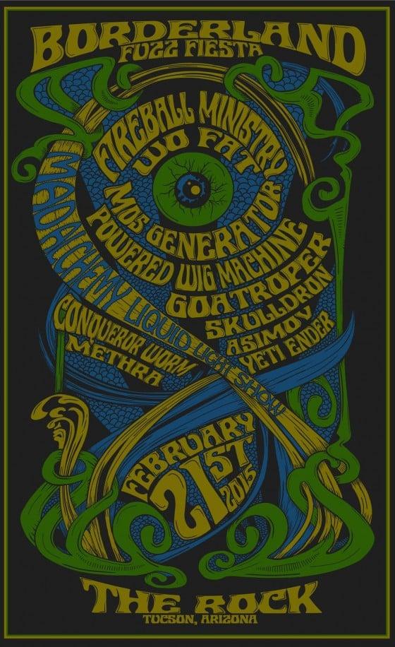 Image of 2015 Borderland Fuzz Fiesta Screen Print Poster