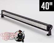 "Image of Robby Gordon Signature Straight Double Row Light Bar 40"""