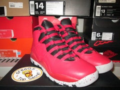 "Air Jordan X (10) Retro ""Bulls over Broadway"" GS - areaGS - KIDS SIZE ONLY"