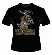 Image of Skeleton Bull Rider Short Sleeve Shirt - Black