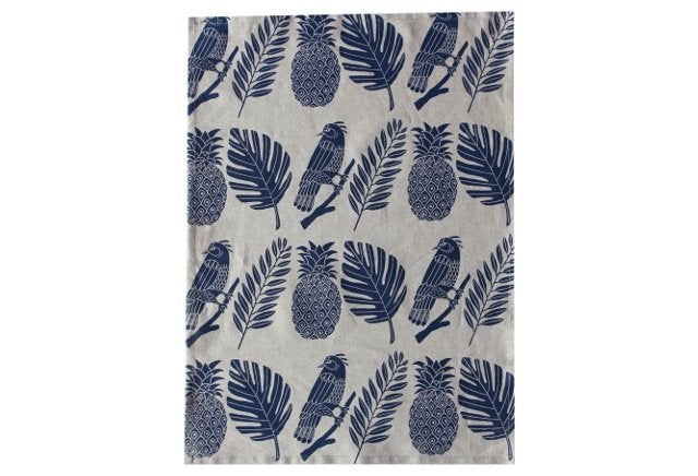 Image of Tropical Blue Tea Towel