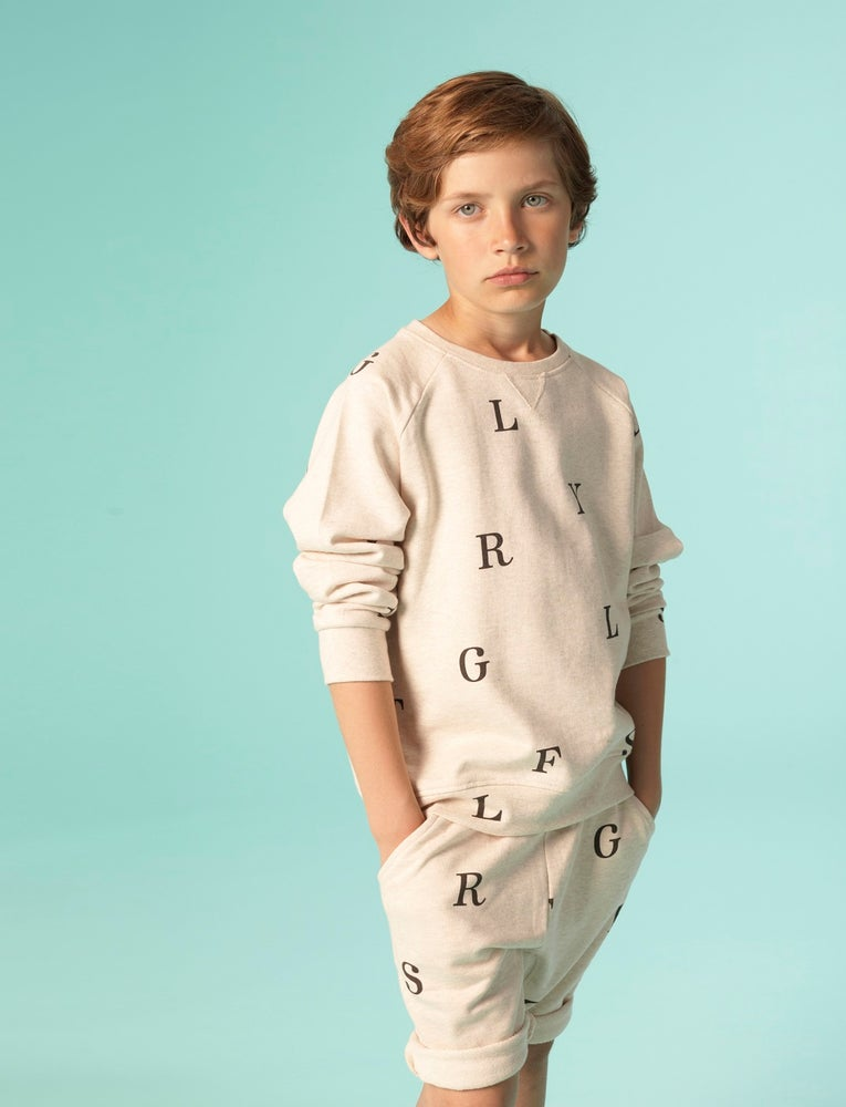 Image of SS15 <> Sweat-shirt garçon Soft Gallery « Silas Letters » <> 2A-10A