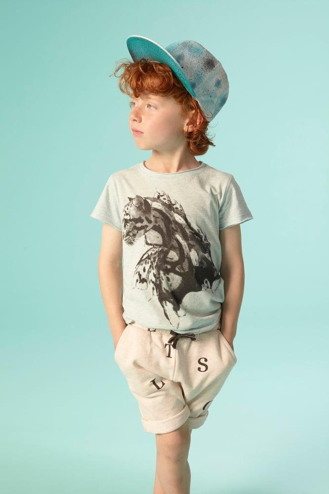 Image of SS15 <> T-shirt manches courtes bébé garçon Soft Gallery « Ashton Clouded Leopard » menthe