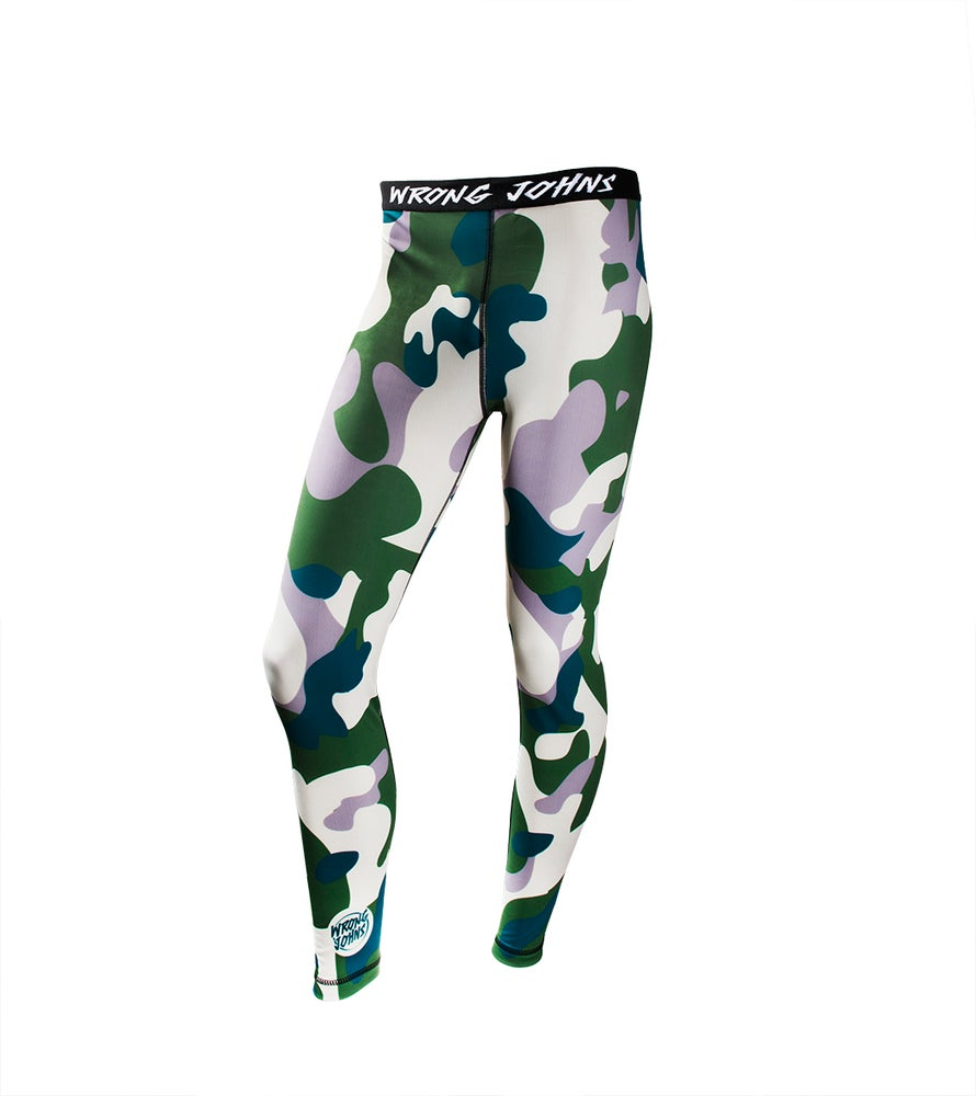 Image of Mens Army Camouflage Thermal Bottoms