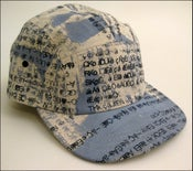 "Image of  MJL ""Blue/Grey Abstract Gibberish"" Camp Cap"