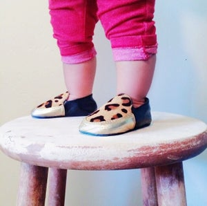 Image of Leopard Loafers Gold
