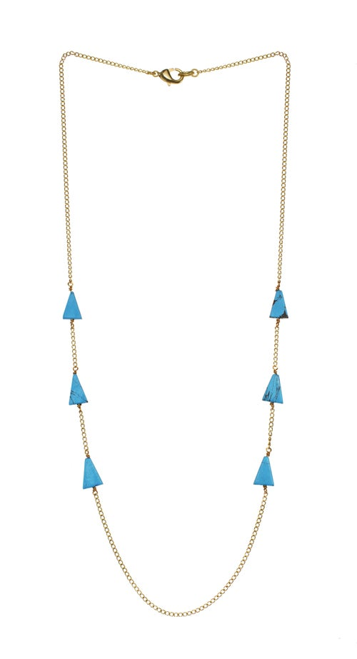 Image of TURQUOISE ISOSCELES TRIANGLE necklace