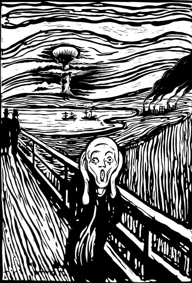 "Image of ""The Scream"" after Munch"