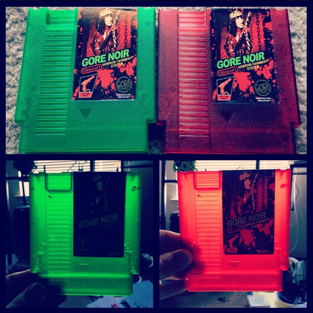 Image of Faux NES color cartridge + splatter 8gb USB gun LOADED!