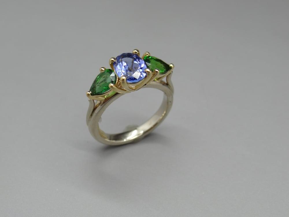 Image of three stone ring